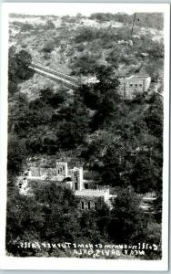 Turner Falls State Park OK RPPC Real Photo Postcard COLLINGS CASTLE Aerial View