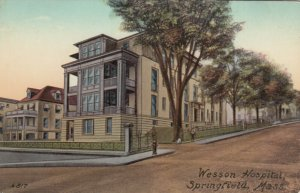 SPRINGFIELD, Massachusetts, 1900-1910s; Wesson Hospital, version 2