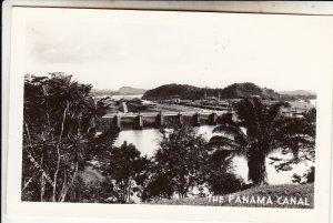 P1916 vintage ekc RPPC the panama canal locks trees view etc unused