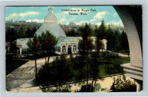 Tacoma WA, Conservatory In Wright Park, Vintage Washington Postcard