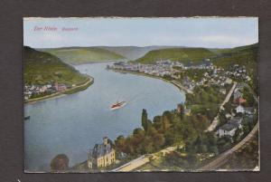 Rhein River View Of Boppard - Unused - Edge Wear