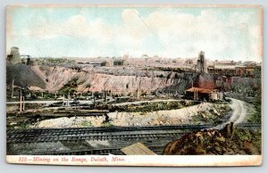 Duluth MN~Railroad Leads to Dirt Rd~Log Cabin At the Range~Mining Equipment~1906