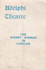 Walter Melville The Worst Woman In London 1903 Theatre Programme