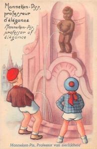 Belgium Manneken Pis Children Comic: Professor of Elegance Postcard
