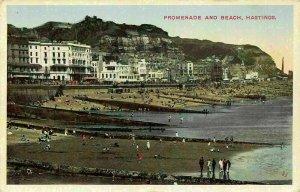 Hastings Promenade and Beach Plage Postcard