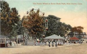 New Haven, Connecticut, CT, USA Postcard The Ferris Wheel at Savin Rock Park ...