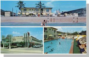 Nice Miami Beach, Florida/FL Postcard, Sandy Shores Motel