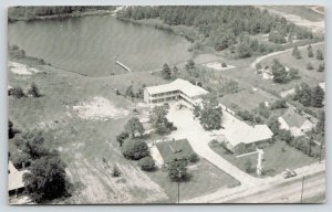 Pageland Motel SC Aerial View~Route 601, McGregor St~Complementary Room TV~1940s