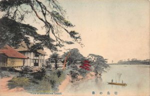 View of Matsushima Island, Japan, Early Hand Colored Postcard, Unused