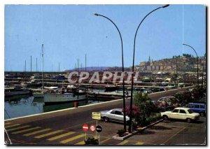 Postcard Moderne Menton AM The new marina Garavan Basically Old Menton