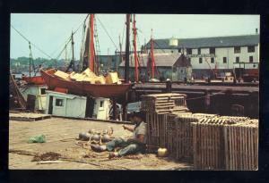 Gloucester, Massachusetts/MA/Mass Postcard, Dock/Boats,North Atlantic Seafood Co