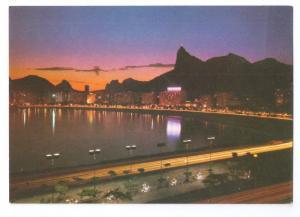 Botafogo Bay Brasil Night View 1970s 4X6