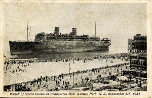 NJ - Asbury Park. September 8, 1934. Wreck of the SS Morro Castle  (crease do...