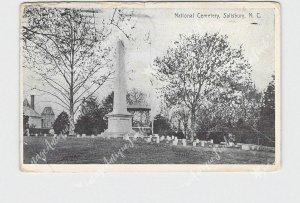 PPC POSTCARD NC NORTH CAROLINA SALISBURY NATIONAL CEMETERY