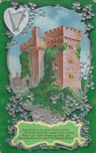 IRELAND, PU-1913; Castle, Blarney Stone, Silver Harp & Clovers