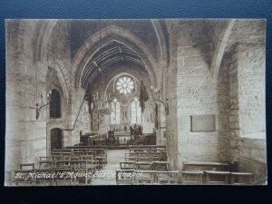 Cornwall Penzance ST. MICHAEL'S MOUNT Castle Chapel c1930's Postcard by Frith