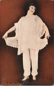 Ex Sup Co Chgo. Woman with Lace Arcade Movie Star Unused