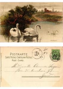 CPA Im Schilf Meissner & Buch Litho Serie 1281 (730555)
