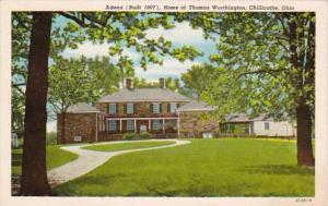 Ohio Chillicothe Adena Built 1807 Home Of Thomas Worthington 1963 Curteich