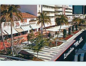 Unused Pre-1980 THE NEW LINCOLN MALL Miami Beach Florida FL r9480