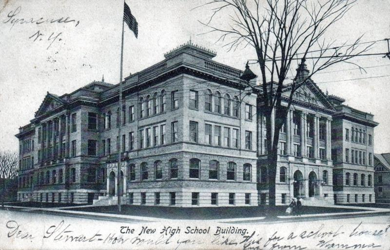Postcard Syracuse New York The New High School Building 1906 B11