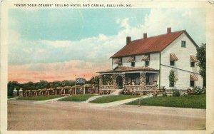 1936 Sullmo Hotel Cabins Ozarks Missouri Highway 66 Tichnor Postcard 10264