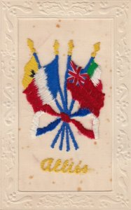 Embroidered 1914-18 ; Allies' Flags