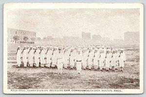 Boston Massachusetts~Commonwealth Pier Guard Division~Rifle Drill~WWI Era c1917