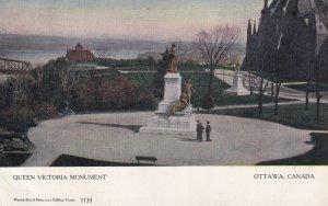OTTAWA, Ontario, Canada, 1900-1910s; Queen Victoria Monument