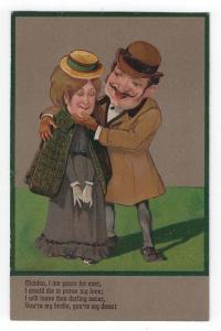 Vintage Comical Romance Postcard, The Charmer, PFB, 1907