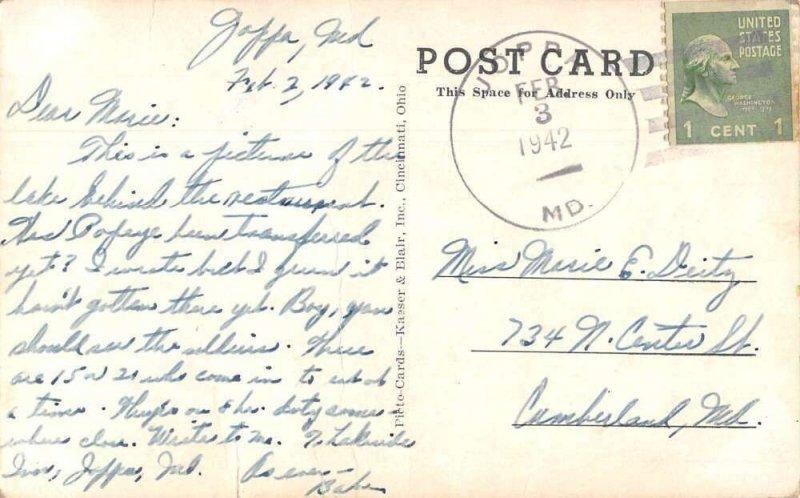 Joppa Maryland Lake Side Inn Swimming Vintage Postcard AA16711