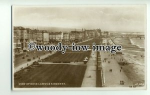 tp8758 - Sussex - View of the Hove Lawns, Beach and Kingsway c1952 - postcard