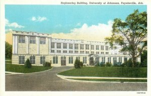 AR, Fayetteville, Arkansas University, Engineering Building,Curteich No 120759-N
