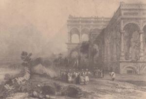 Ali's Palace Sahudat Krishna E Finden Old Uttar Pradesh Indian Painting Postcard