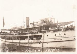 Fond Du Lac Lake Boat Chicora 1915 RP