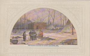 Illinois Chicago Winter Quarters Of Father Marquette 1674 Painting At Central...