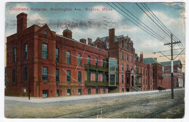 Boston, Mass, Childrens Hospital, Huntington Ave.