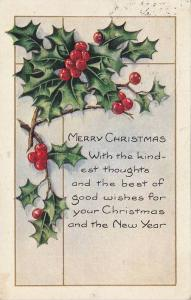 Merry Christmas with the kindest thoughts and the best of good wishes for you...