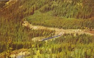 Canada The Canadian Train Entering The Lower Spiral Tunnel Field British Colu...