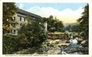 Old Stone Mill, Factory Hollow Greenfield MA postal used unknown