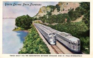 Burlington Route - Vista Dome Twin Zephyrs