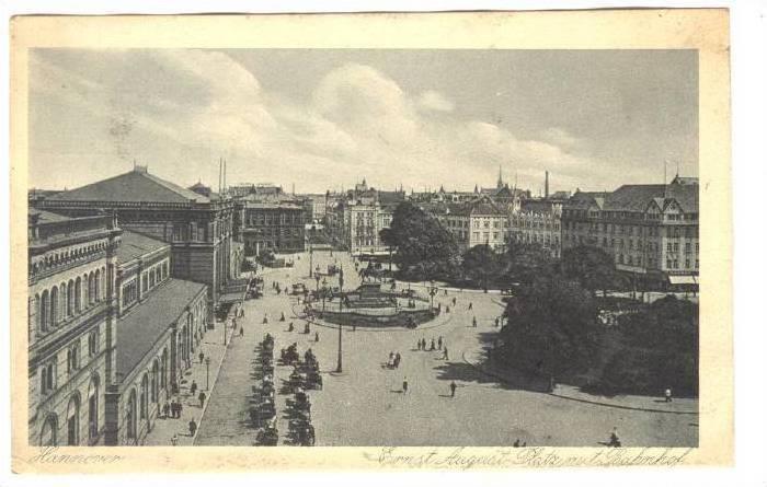 Hannover, Germany, 1910s; Ernest August Platz