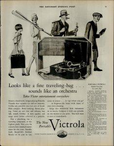1927 Victrola Portable Radio Player $40.00 Vintage Print Ad 3905