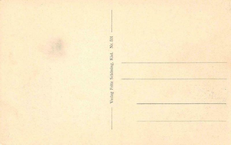 KIEL Holtenauer Schleuse Germany c1910s Vintage Postcard