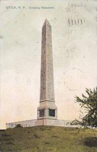 New York Utica Oriskany Monument 1908