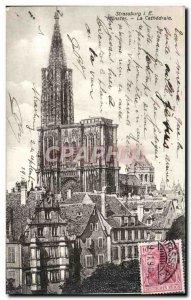 Postcard Old Strasbourg Cathedral