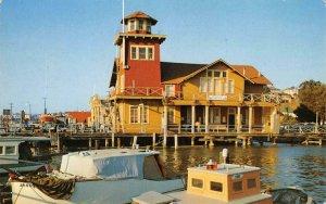 VALLEJO, CA Yacht Club Mare Island Blvd. Solano County c1950s Vintage Postcard