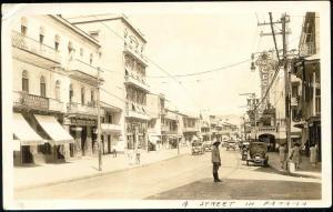 panama, PANAMA CITY, Street Scene, Cecilia Theatre, Workman Printery 1910s RPPC