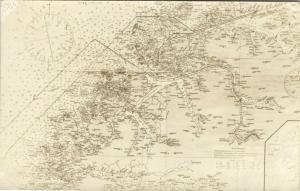 norway norge, MAP Postcard, GURSKEÖY, HAREIDÖY, SILÖY (1930s) RPPC