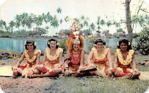 Taupou and Dancing Girls Fiji Unused
